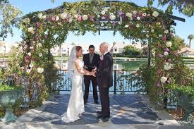 wedding arch las vegas grand lakeside pearl all inclusive wedding reception package up
