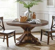 dining room tables round oval round dining tables pottery barn