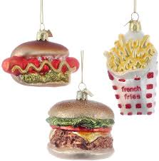 fast food ornament set food themed tree ornaments