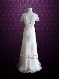 vintage style wedding dress glamorous retro 1920 s style wedding dress with sleeves anabel
