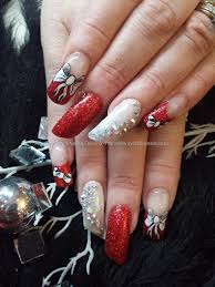 red acrylic nails with bows httpwwwbeautysupplylosangelescom eye