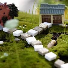 resin ladder garden landscape figurines miniatures
