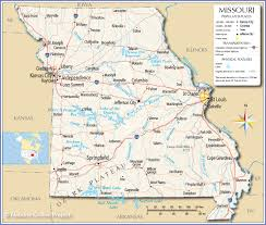 United States Map With Lakes And Rivers by Reference Map Of Missouri Usa Nations Online Project