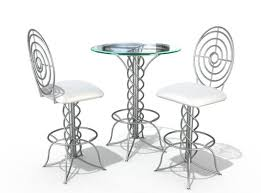 Modern Bistro Chairs 3d Modern Bistro Table Set Cgtrader