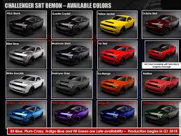 Dodge Challenger Colors - demon painted in f8 green srt hellcat forum