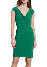lauren ralph lauren striped off the shoulder dress belk