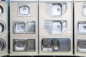 Kitchen Sink Displays Display Of Stainless Steel Kitchen Sinks Sles Stock Photo