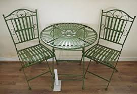 green metal outdoor table french ornate antique green wrought iron metal garden table and