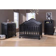 simmons kids paige 3 piece crib set ebony black