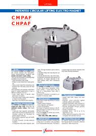 circular electromagnet chpaf andrin pdf catalogue technical