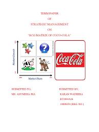 Six Flags Coca Cola Bcg Matrix Of Coc Cola India Coca Cola Brand