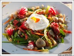 recette cuisine gastro recette salade fermière à l œuf poché recette gastronomique d