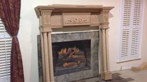 custom fireplace mantel lewisburg with special appliques youtube