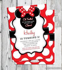 editable minnie mouse birthday invitations