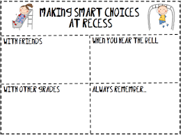 making smart choices at recess a freebie 3rd grade thoughts