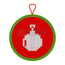christmas pattern knit fabric christmas pattern knit tree ball on red knitted fabric background