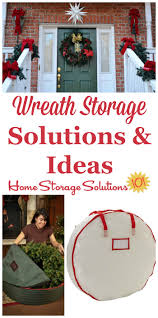 Plastic Wreath Storage Containers Wreath Storage Solutions For Christmas Or Any Time Of Year