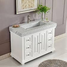 48 modern single bathroom vanity espresso with rectangle sink
