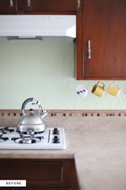 How To Paint Tile Backsplash In Kitchen How To Make An Inexpensive Plank Backsplash U2013 A Beautiful Mess