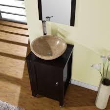 Corner Bathroom Sink Cabinet Amazing Corner Bathroom Vessel Sink Cabinet Using Black Paint