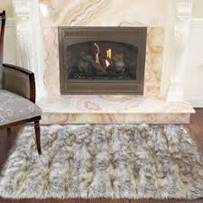 Sheepskin Area Rugs Animal Shaped Faux Fur Rugs Wayfair