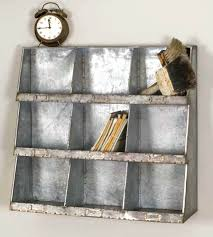 toy cube storage galvanized vintage industrial style wall cubbies