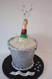 Cake Decoration Ideas For New Year by New Year Eve Champange Bottle And Bucket Birthday Cake Nj Custom