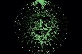 glow in the dark poster sun moon uv blacklight glow in the dark poster tripleview art shop