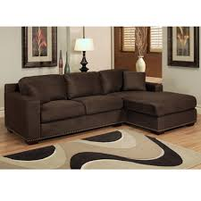 abson living monrovia sectional sofa chaise in dark brown brown