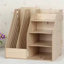 bureau rangement hensych étagère planche organiseur de bureau en bois boîtes de