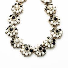 elegant black necklace images Elegant black and white simulated gemstone flower choker statement jpg
