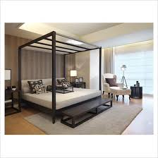 four poster double modern luxurious bedroom bed for the home
