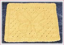butterfly free knit dishcloth pattern