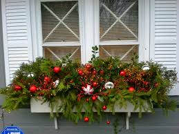 Decoration For Christmas Windows by Holiday Window Box Window Boxes And Planters Pinterest