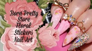 nail art tutorial born pretty store rose nail stickers spring