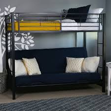 Bunk Bed With Futon On Bottom Walker Edison Futon Metal Bunk Bed Black