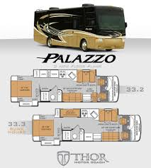 bunkhouse fifth wheel floor plans 17 thor class c rv floor plans 2007 damon outlaw 3611 class