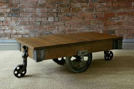 Vintage Coffee Table With Wheels Coffee Table Vennilux Vintage Coffee Table Furniture Cart