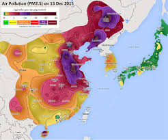 Chinese Map Urban Air Pollution In Chinese Cities Chinas Long March Towards