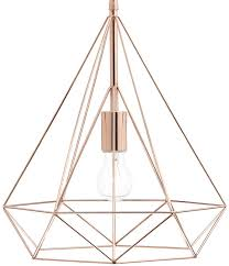 wire pendant light fixtures sword contemporary wire prism 1 light pendant copper dar swo0164