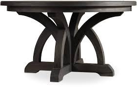 black dining room table with leaf hooker furniture dining room corsica dark round dining table w 1