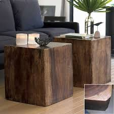 wood cube end table outstanding convertible wood cube contemporary side tables and end