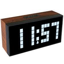 temperature chambre a coucher 2018 vente chaude antique en bois horloge murale led d alarme