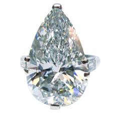 pear shaped ring cartier cert 10 02 carat pear shaped diamond platinum ring at