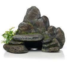 classic aquatics aquarium ornaments rocky ledge multi coloured at