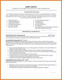 Accounting Manager Sample Resume by Sample Resume For Corporate Accountant Templates