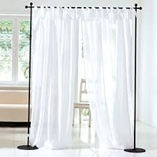 White Tie Curtains Sheer White Voile Tie Top Curtains Set Of 2 Co Uk