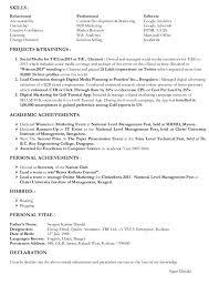 Online Marketing Resume by Marketing Resume Skills Berathen Com