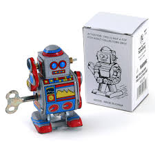 classic tin toys reproduction vintage tin wind up tin toys mini robot wind up walking tin toy