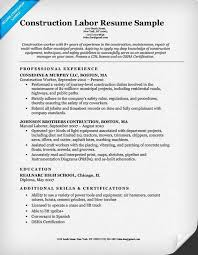 Construction Worker Sample Resume by Download Construction Resume Template Sample Resume Format For